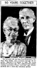 Paul and Bertha Meerscheidt - 50th anniversary photo